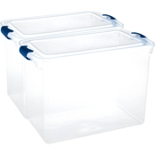Homz 112 qt. Clear Latching Storage Box 2 Pk.