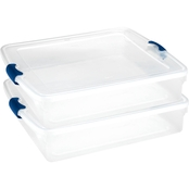 Homz 56 qt. Full/Queen Underbed Clear Storage Box 2 Pk.