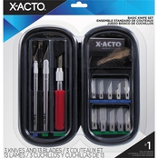 X ACTO Knife Set, 3 Knives, 10 Blades, Carrying Case