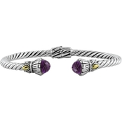 Robert Manse Designs Bali Tulip Cable Bracelet with Amethyst