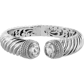 Robert Manse Designs Bali White Topaz Cable Bangle Bracelet
