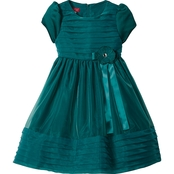 Princess Faith Little Girls Layered Bodice Dress