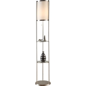 Artiva USA Exeter 63 In. Floor Lamp with Shelves