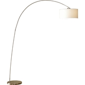 Artiva USA Adelina 81 In. Brush Steel Arch Floor Lamp