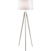 Artiva USA Hollywood 63 In. Brushed Nickel Tripod Floor lamp