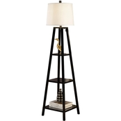 Artiva USA Elliot 63 In. 3 Tiered Wood Floor Lamp