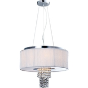 Artiva USA Adrienne 6-Light Chrome Crystal Chandelier