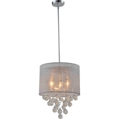 Artiva USA Charlotte 3-Light Chrome Crystal Chandelier