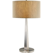 Artiva USA Luxor 32 In. Tapered Brush Steel Table Lamp