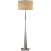Artiva USA Luxor 68 In. Tapered Brush Steel Floor Lamp