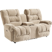 Best Home Furnishings Seger Reclining Loveseat With Console