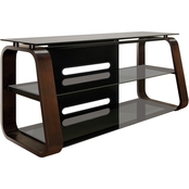 Bell'o Curved Wood Audio Video TV Stand