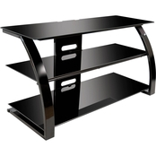 Bell'o Glass And Metal Flat Panel Audio Video TV Stand