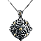 Robert Manse Designs Sterling Silver and 18K Gold Bali Regal Scrollwork Pendant