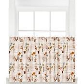 Saturday Knight Le Jardin 24 x 57 in. Tier Curtain Pair