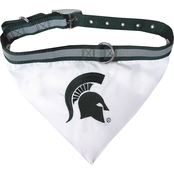 Pets First NCAA Michigan State Spartans Collar Bandana