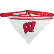 Pets First NCAA Wisconsin Badgers Collar Bandana
