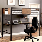 Furniture of America Twin Bed With Workstation