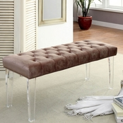 Furniture of America Mahoney Acrylic Bench