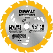 DeWalt 6 1/2 in. 18T Carbide Thin Kerf Circular Saw Blade