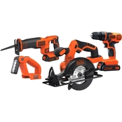 Black & Decker 20V MAX Li-Ion 4 Tool Cordless Combo Kit