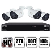 Night Owl 1080p Integrated Battery Backup Security DVR with 4 Wired Cameras