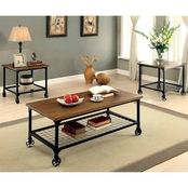 Furniture Of America Ventura Cocktail with End Tables 3 Pk.