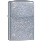 Zippo Etched Two Hearts Lighter