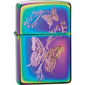 Zippo Engraved Butterflies Lighter