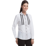 Foxcroft Non Iron Ribbon Trim Shirt