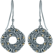 Robert Manse Designs Sterling Silver and 18K Gold Bali Swirling Scrollwork Earrings