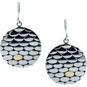 Robert Manse Designs Sterling Silver and 18K Gold Bali Statement Medallion Earrings