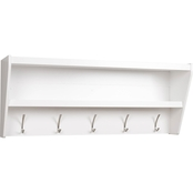 Prepac Floating Entryway Shelf and Coat Rack