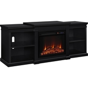 Altra Manchester Fireplace 70 in. TV Stand with Side Shelves