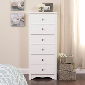 Prepac Monterey Tall 6 Drawer Chest