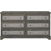 Altra Stone River 6 Drawer Dresser with Fabric Inserts