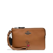 COACH Mickey Corner Zip Wristlet In Calf Leather, Gift Boxed