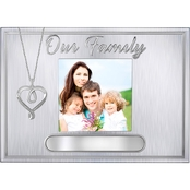 Sterling Silver Diamond Accent Heart Pendant with Photo Frame