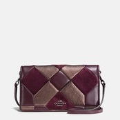 COACH Canyon Quilt Swagger 21 in mixed leathers