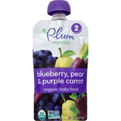 Plum Organics Second Blends, Blueberry, Pear & Purple Carrot 4 oz.