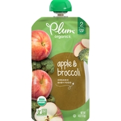Plum Organics Second Blends Apple and Broccoli Squeezable Pouch 4 oz.