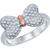 Disney Enchanted 10K Rose Gold Over Sterling Silver 1/5 CTW Diamond Snow White Ring
