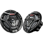 JVC CSDR6200M Marine/Motorsports 6.5 In. 150 Watt 2 Way Coaxial Speakers Black