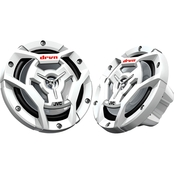JVC CSDR6201MW Marine/Motorsports 6.5 In. 150 Watt 2 Way Coaxial Speakers, White