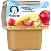 Gerber 2nd Foods Apple Strawberry Banana 4 oz. Tub 2 pk.