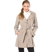 London Fog Single Breasted Wrap Trench Coat