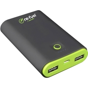 Re-Fuel The Techie 7800mAh Rechargeable Powerbank with 2amp dual USB ports