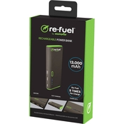 Re-Fuel The Juggernaut 13,000mAh Powerbank with 2amp Dual USB Port