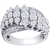 10K White Gold 1 CTW Diamond Anniversary Ring