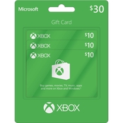 Xbox $30 Gift Card Multipack